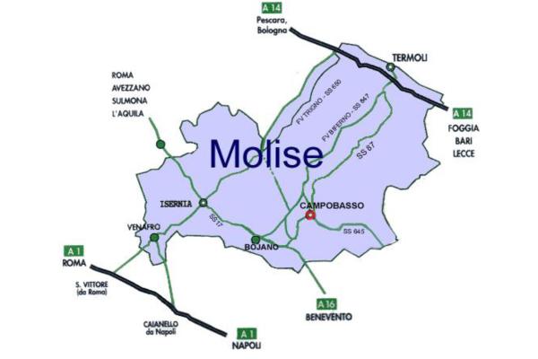 Cartina Del Molise Geografica.Location Hotel Ruffirio